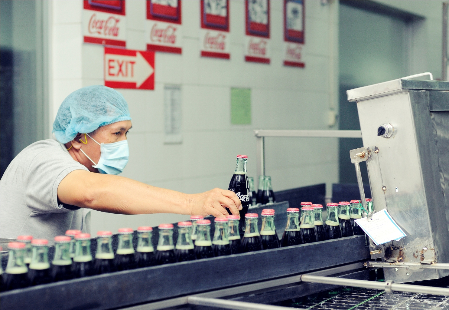 It's Coca-Cola's first priority to invest in modern production line and to ensure smooth operation of the manufacturing process