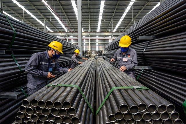 Hoa Sen's zinc pipes are manufactured under US standards (Photo: Hoa Sen Group)