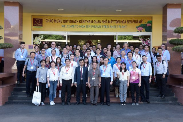The Southeast Asia Steel Association has selected the Hoa Sen Phu My Steel Factory as the only working and visiting site in the metals industry in Vietnam (Photo: Hoa Sen Group)