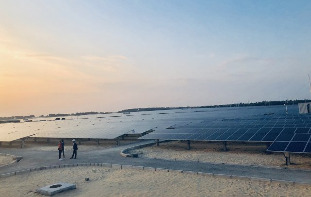 The TTC Phong Dien Solar Power Plant (Photo: Khanh Chi - VET)