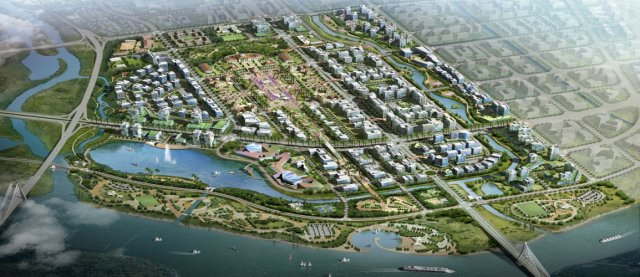 North Cam River Urban Residential area (in Hai Phong city) developed by BDCC (Photo from bachdangco.com)