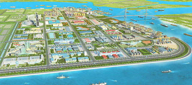 Nam Dinh Vu Industrial Park in Hai Phong Port City (Photo from Sao Do Group)