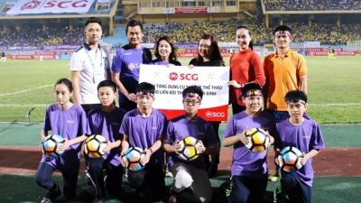 SCG donates sports equipment to Hanoi schools