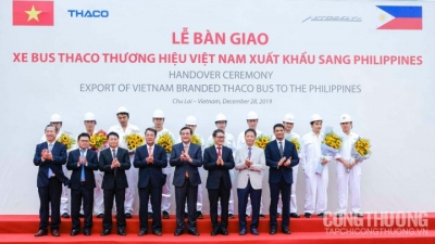 Thaco to export buses to the Philippines