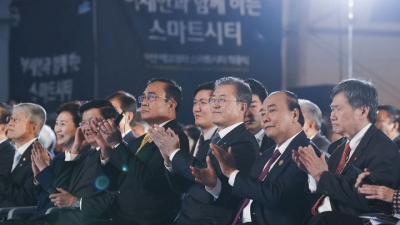 PM attends breaking ground ceremony for Busan Eco Delta Smart City